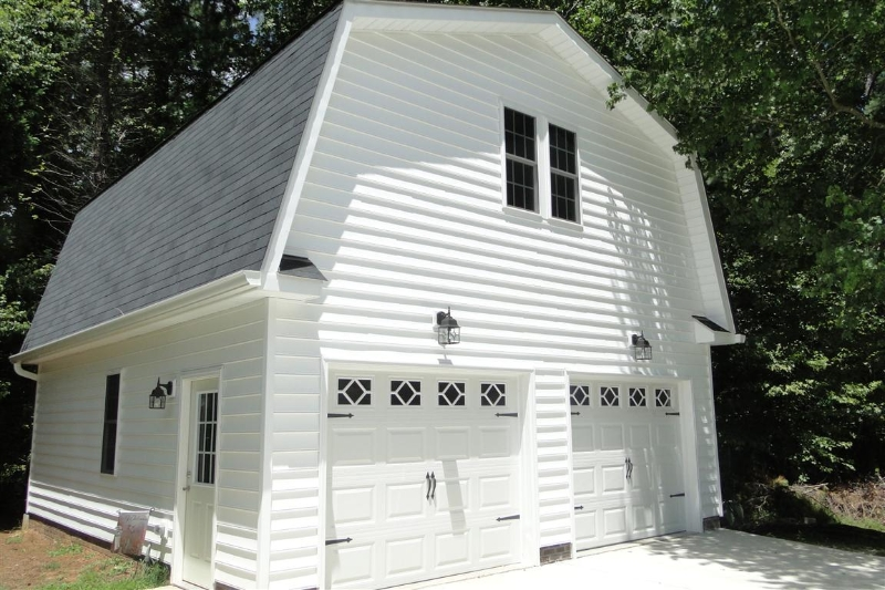 Gambrel Two Story Garage Builders Of Raleigh