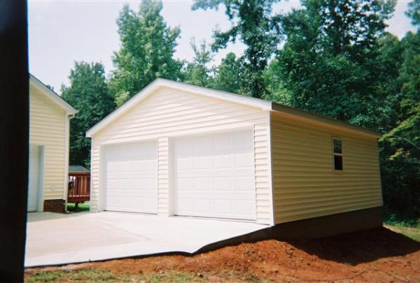 Standard Two Car Garage Builders Of Raleigh