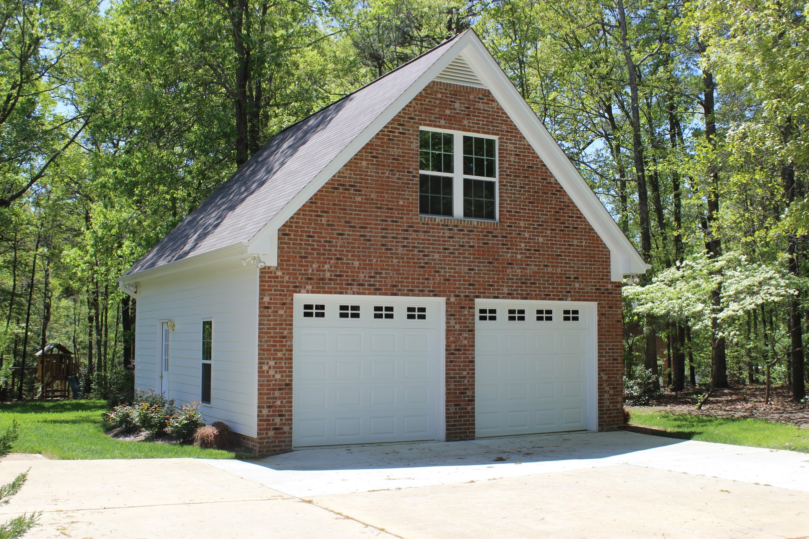Classic Brickface Garage Builders Of Raleigh